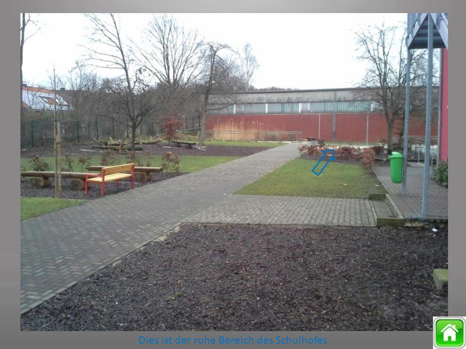 Dies ist der ruhe Bereich des Schulhofes