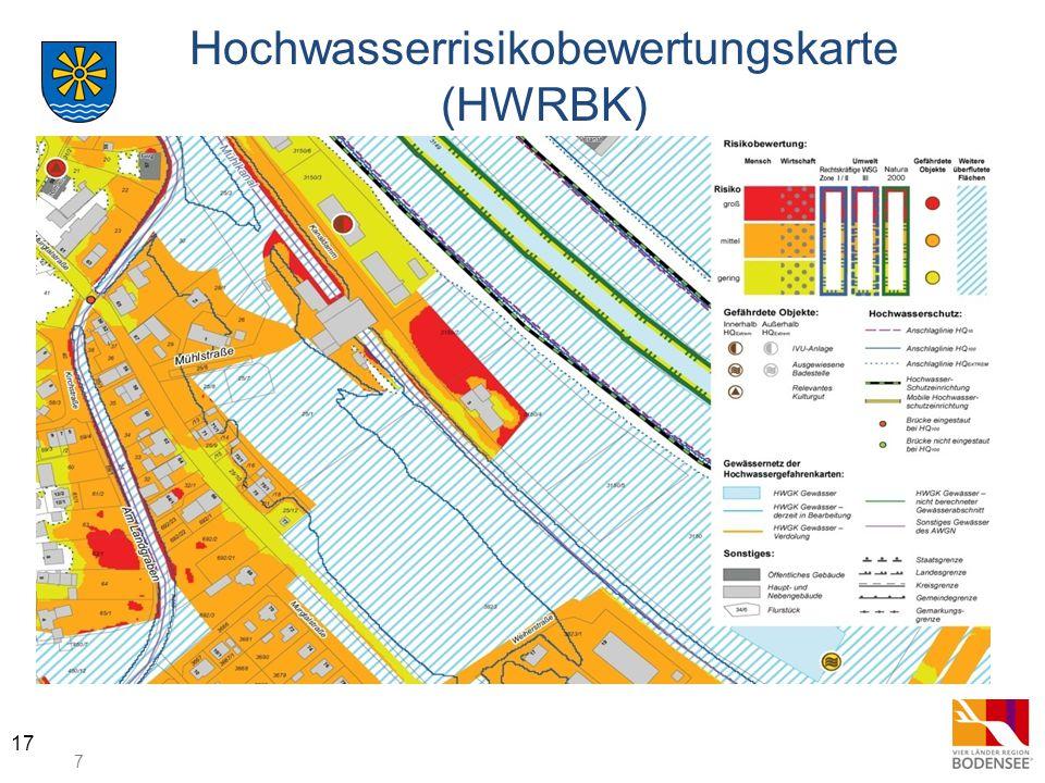 7 17 Hochwasserrisikobewertungskarte (HWRBK)