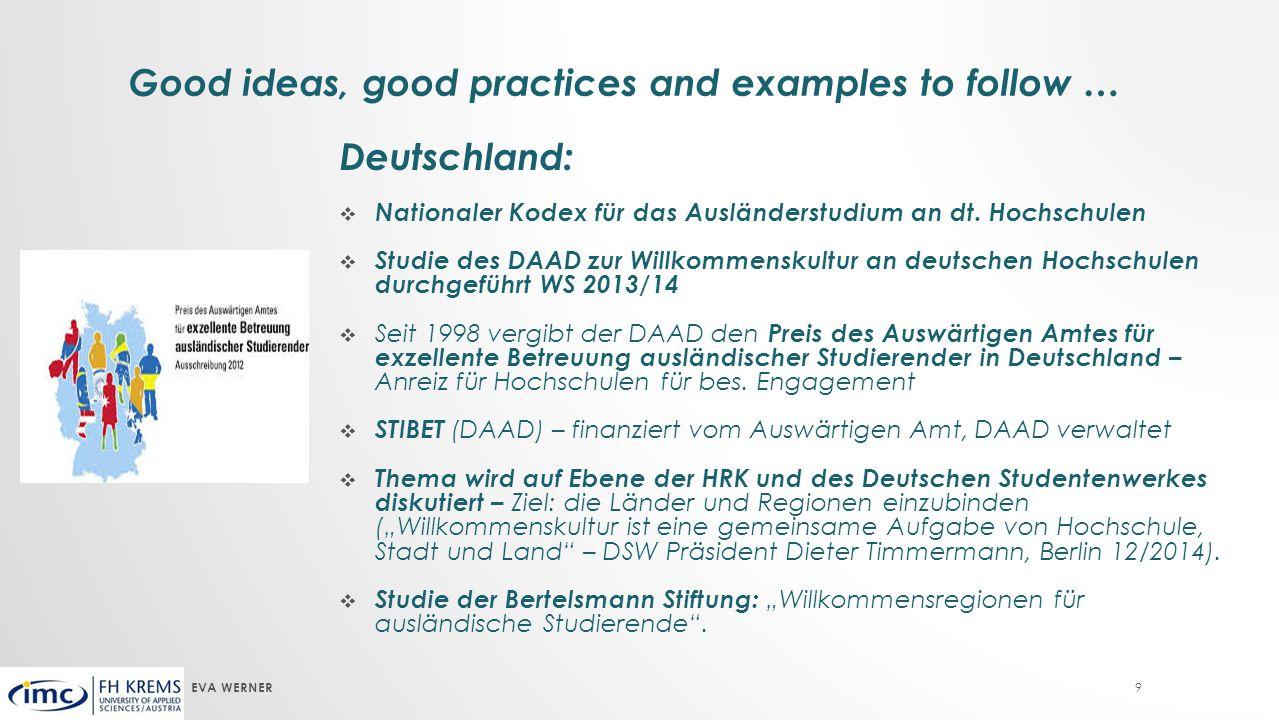 9 Deutschland:  Nationaler Kodex für das Ausländerstudium an dt.