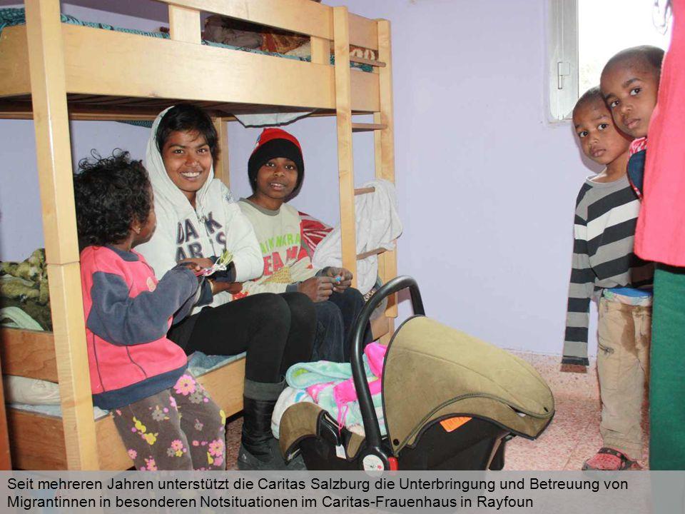 Seit mehreren Jahren unterstützt die Caritas Salzburg die Unterbringung und Betreuung von Migrantinnen in besonderen Notsituationen im Caritas-Frauenh
