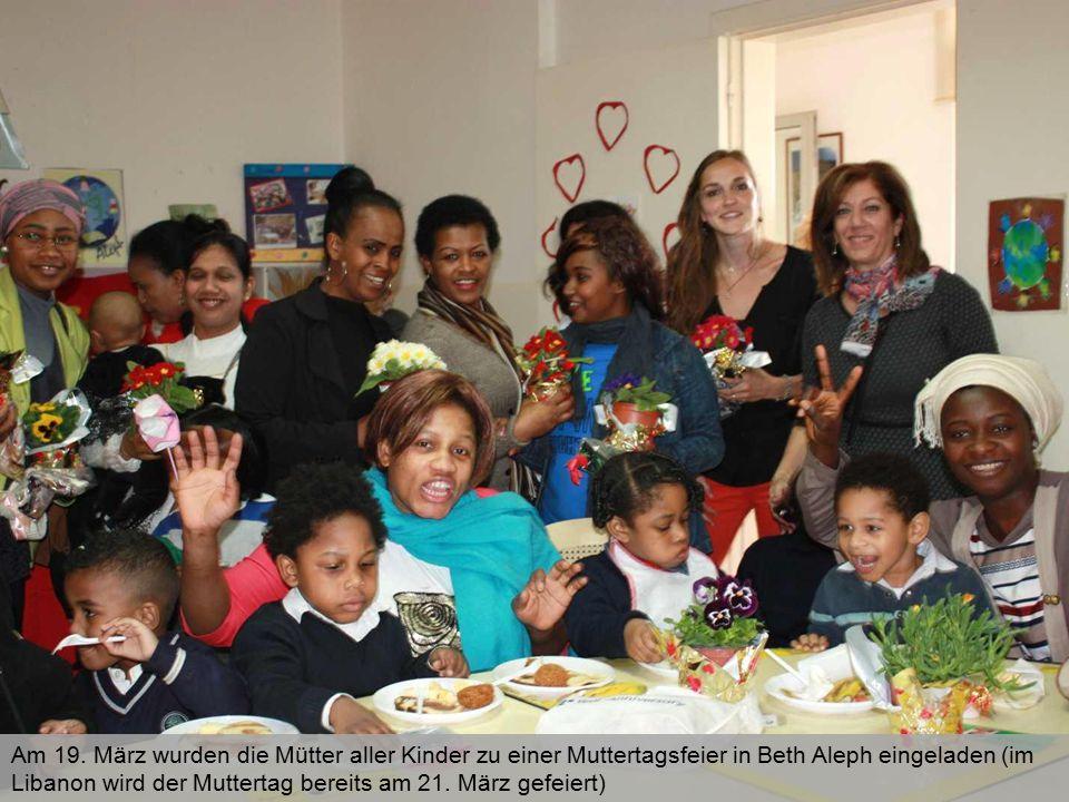 Am 19. März wurden die Mütter aller Kinder zu einer Muttertagsfeier in Beth Aleph eingeladen (im Libanon wird der Muttertag bereits am 21. März gefeie