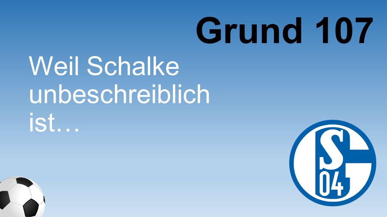 Weil Schalke unbeschreiblich ist… Grund 107