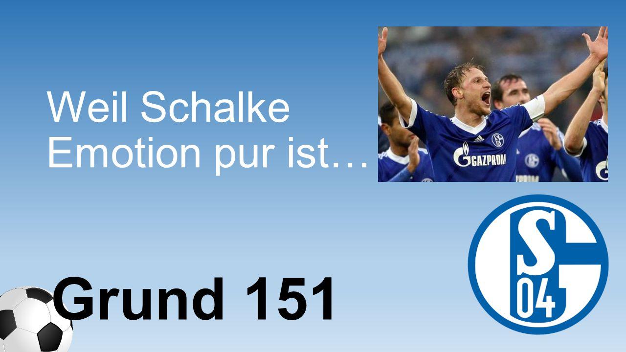Weil Schalke Emotion pur ist… Grund 151