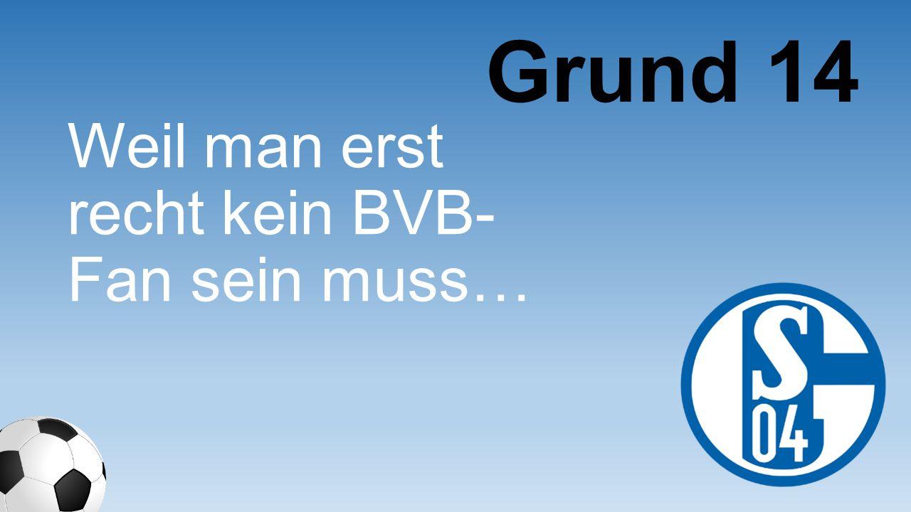 Weil man erst recht kein BVB- Fan sein muss… Grund 14