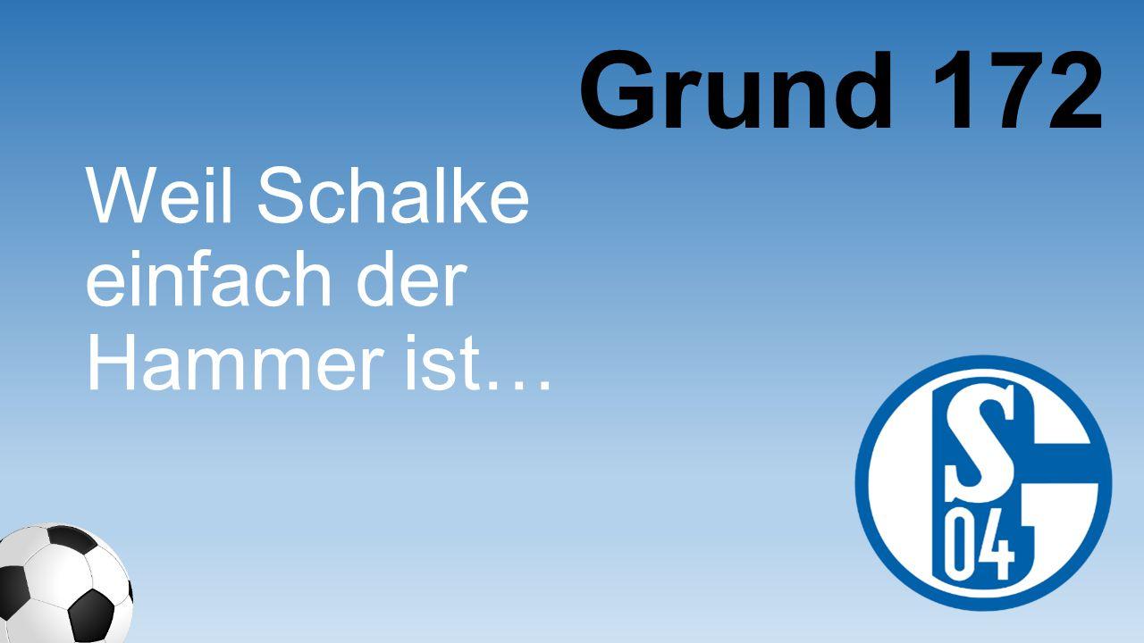 Weil Schalke einfach der Hammer ist… Grund 172