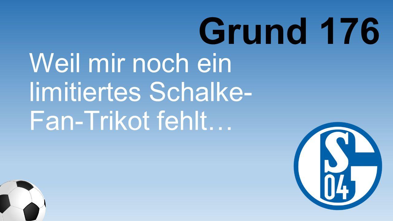 Weil mir noch ein limitiertes Schalke- Fan-Trikot fehlt… Grund 176