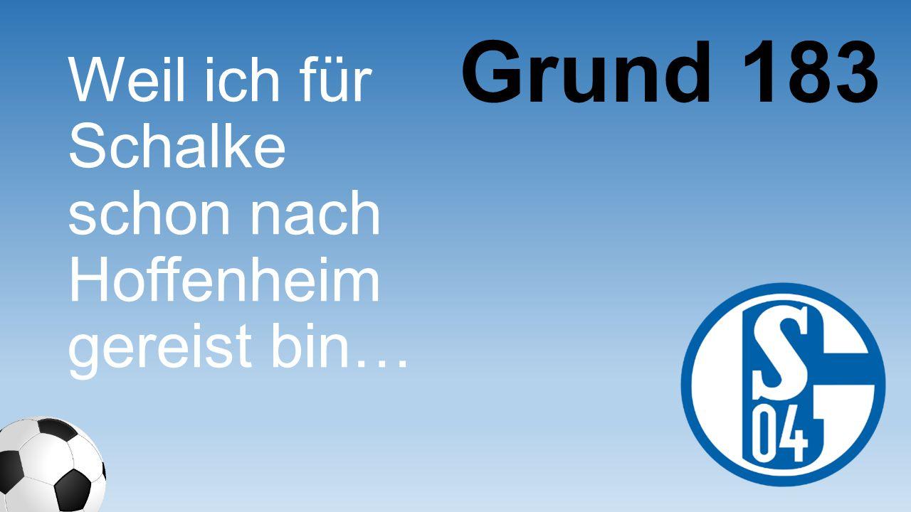 Weil ich für Schalke schon nach Hoffenheim gereist bin… Grund 183