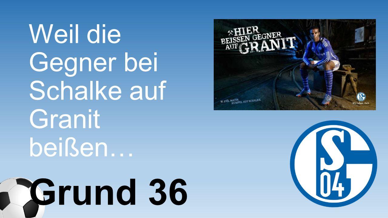 Weil die Gegner bei Schalke auf Granit beißen… Grund 36