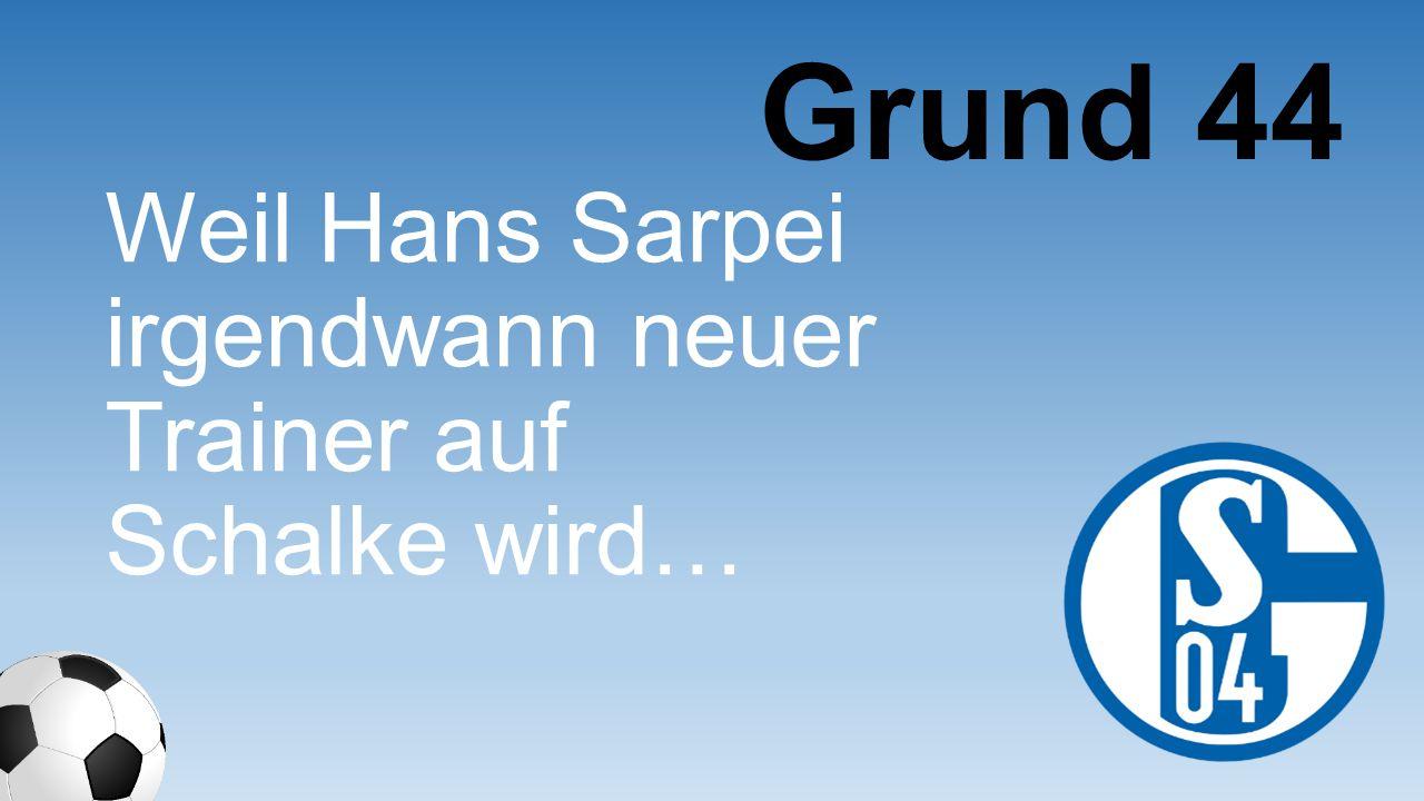 Weil Hans Sarpei irgendwann neuer Trainer auf Schalke wird… Grund 44