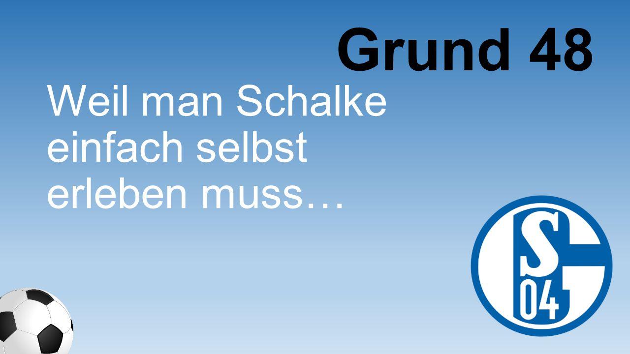 Weil man Schalke einfach selbst erleben muss… Grund 48
