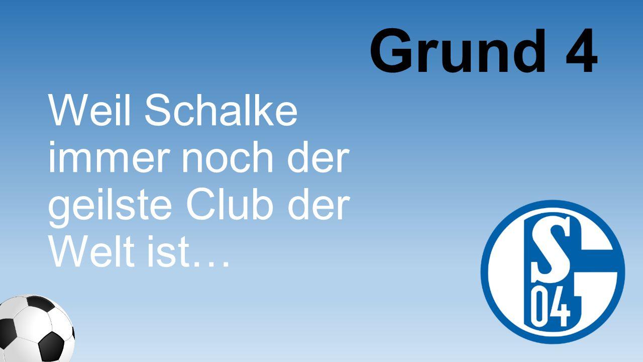 Weil ich extrem gut im Schalke-Outfit aussehe Grund 15