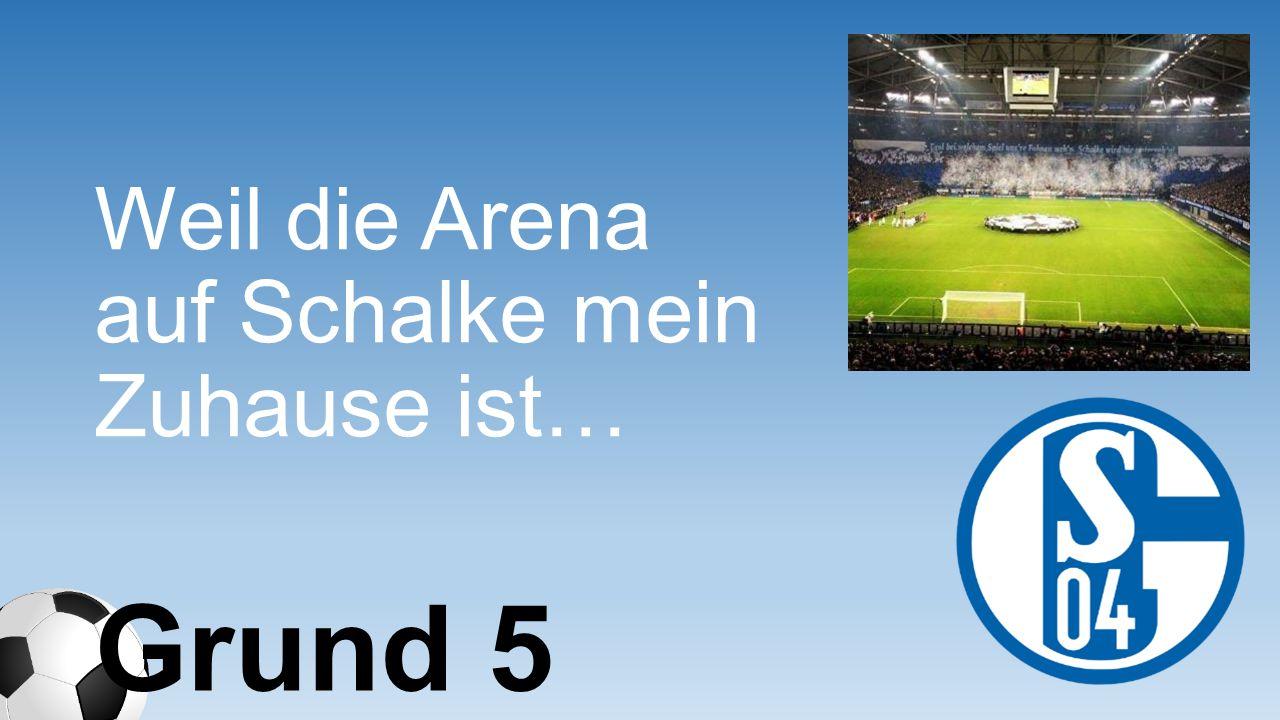 Weil die Arena auf Schalke mein Zuhause ist… Grund 5