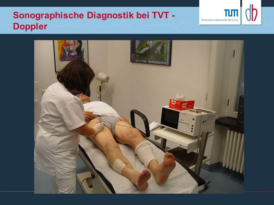 Sonographische Diagnostik bei TVT - Doppler