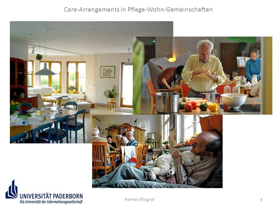 5 Care-Arrangements in Pflege-Wohn-Gemeinschaften Romy Reimer Thesen: Pflege-Wohn-Gemeinschaften ein Schritt in die richtige Richtung auf dem Weg zu einer geschlechtergerechten (Neu)organisation von Care-Arbeit.
