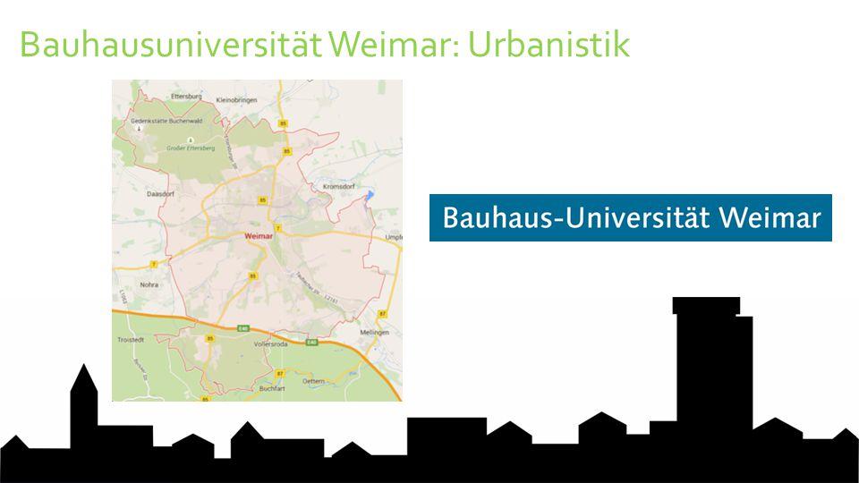 Bauhausuniversität Weimar: Urbanistik