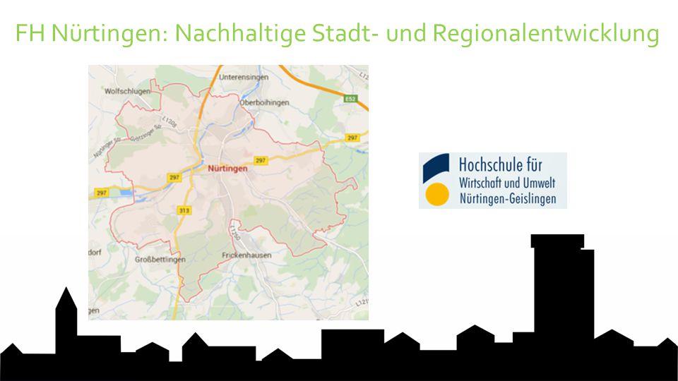 FH Nürtingen: Nachhaltige Stadt- und Regionalentwicklung