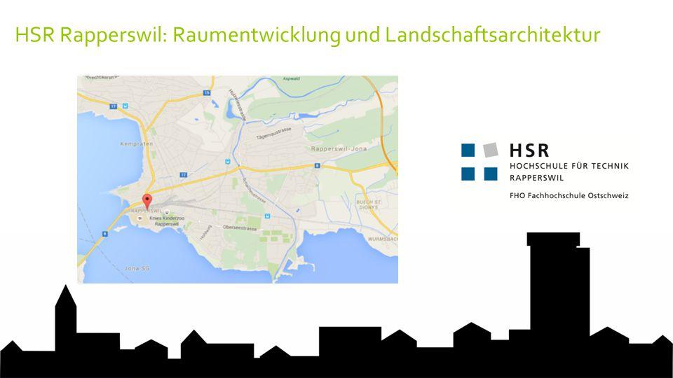 HSR Rapperswil: Raumentwicklung und Landschaftsarchitektur