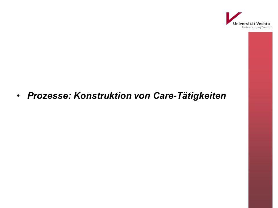 Prozesse: Konstruktion von Care-Tätigkeiten