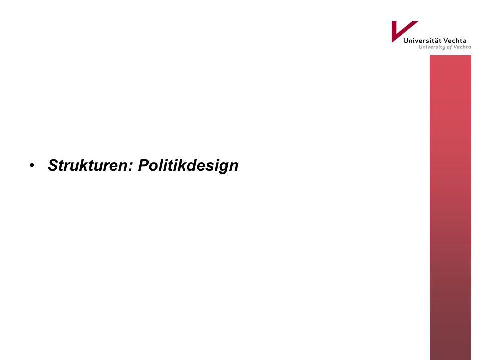 Strukturen: Politikdesign
