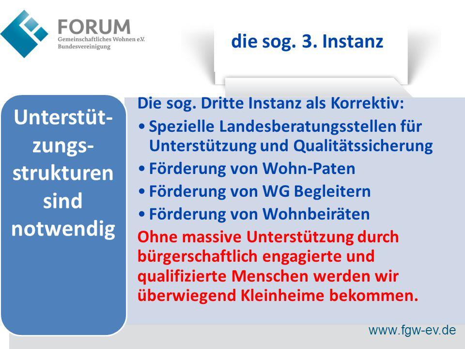 www.fgw-ev.de die sog. 3. Instanz Die sog.