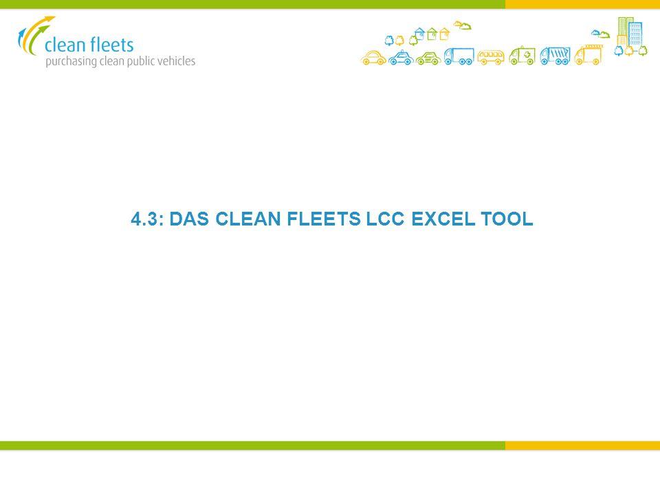 4.3: DAS CLEAN FLEETS LCC EXCEL TOOL