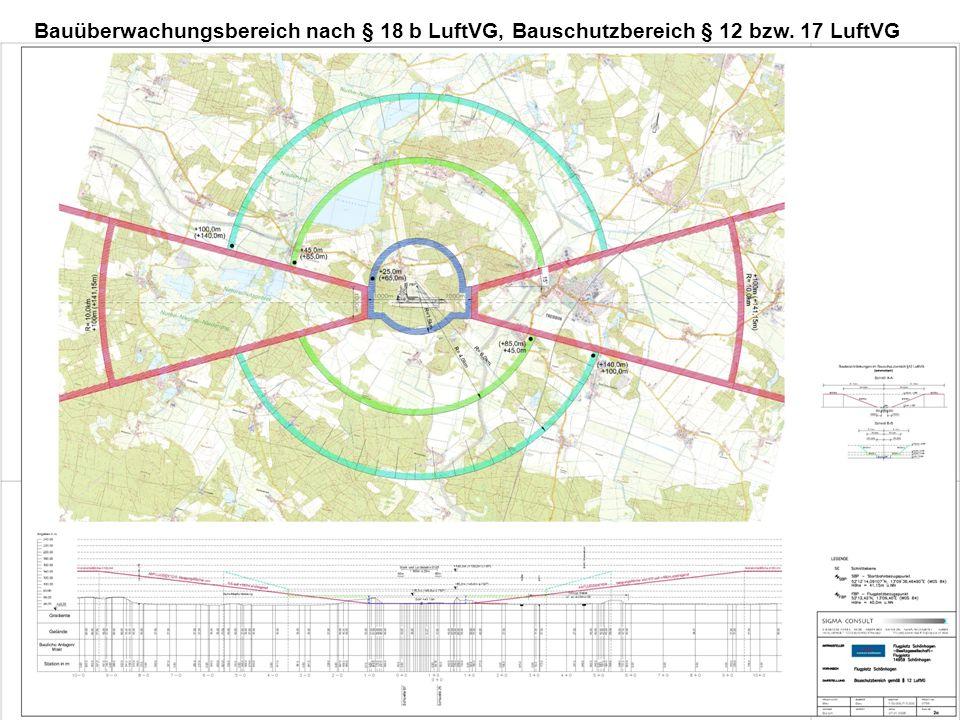 Bauüberwachungsbereich nach § 18 b LuftVG, Bauschutzbereich § 12 bzw. 17 LuftVG