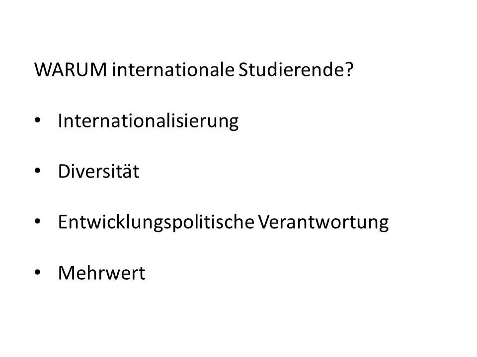 WARUM internationale Studierende.