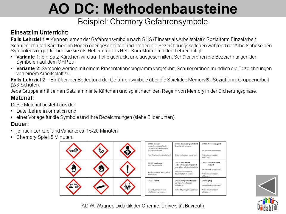 AO DC: Methodenbausteine AD W.