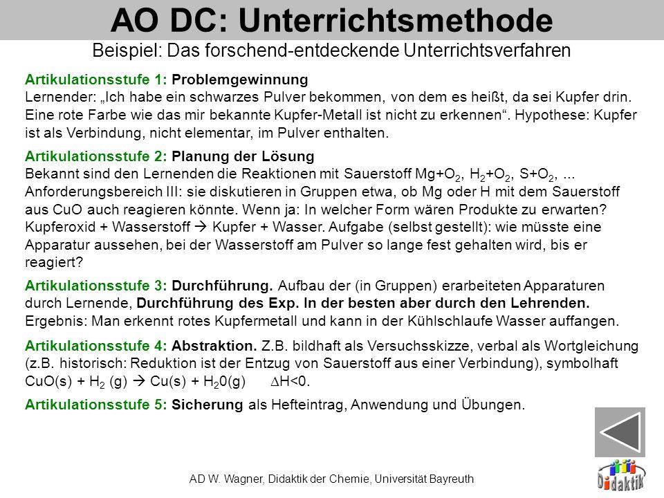 AO DC: Unterrichtsmethode AD W.