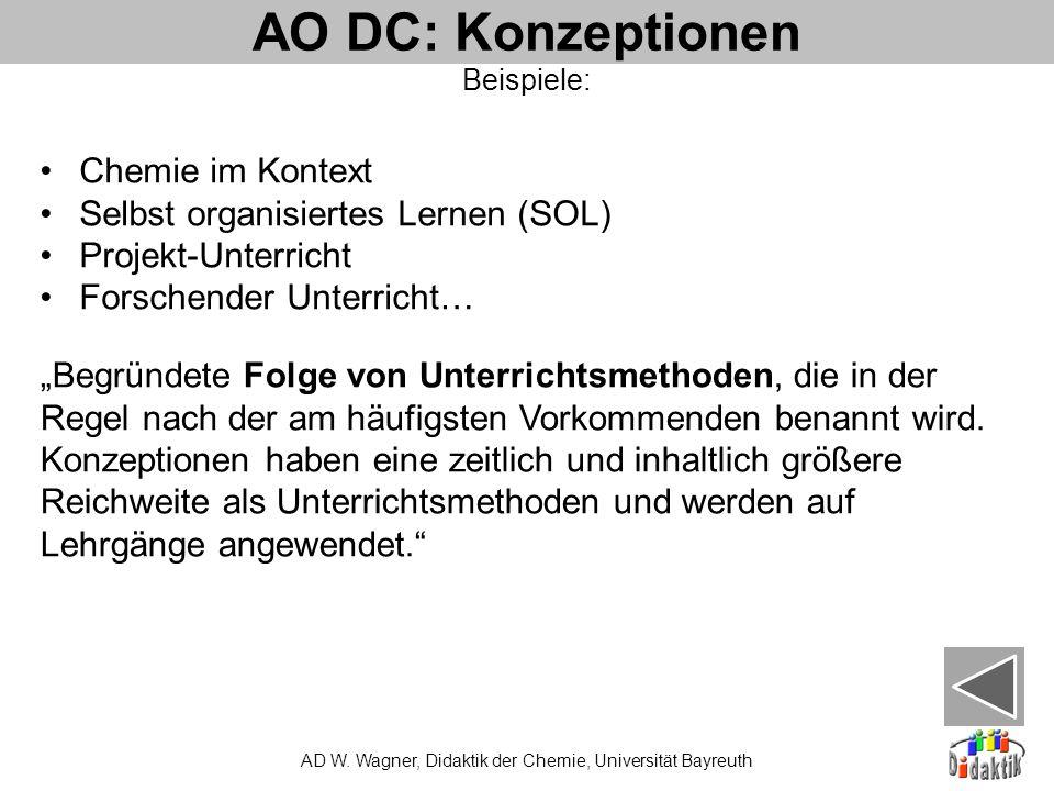 AO DC: Konzeptionen AD W.