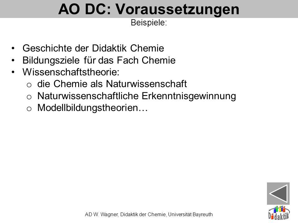 AO DC: Voraussetzungen AD W.