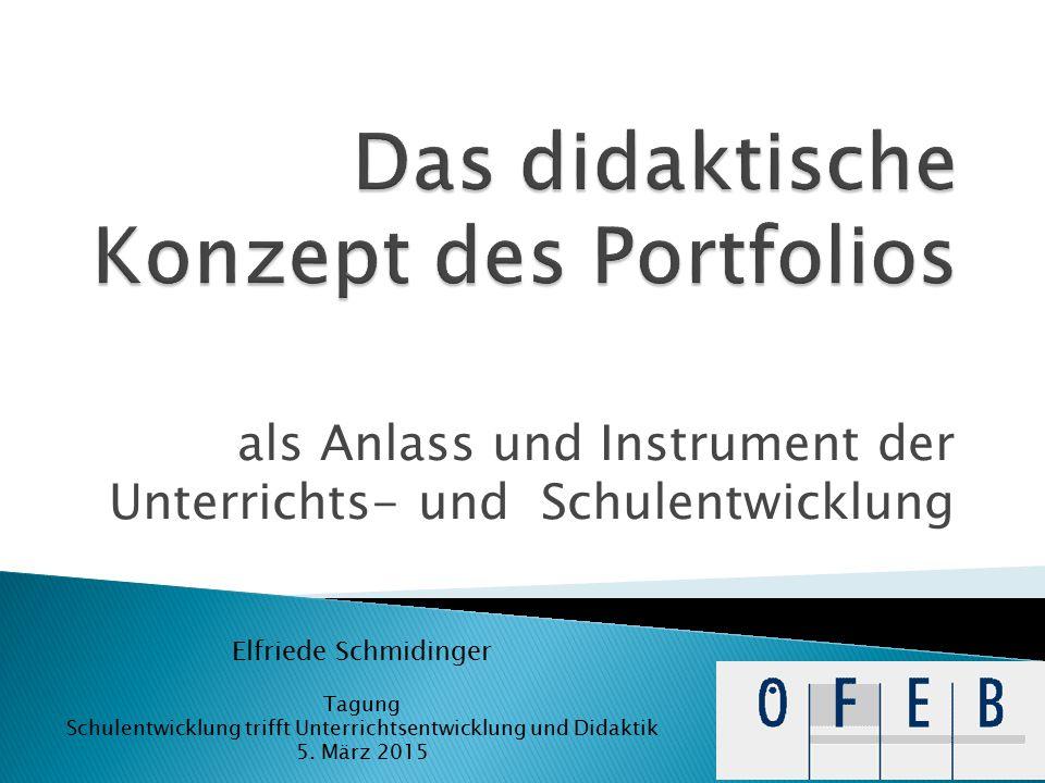 Das SE-Portfolio ist eine zweckgerichtete Sammlung von Dokumenten aus einem bestimmten Schulentwicklungsprozess, in der sowohl der Entwicklungsprozess als auch die -ergebnisse dokumentiert und reflektiert werden.