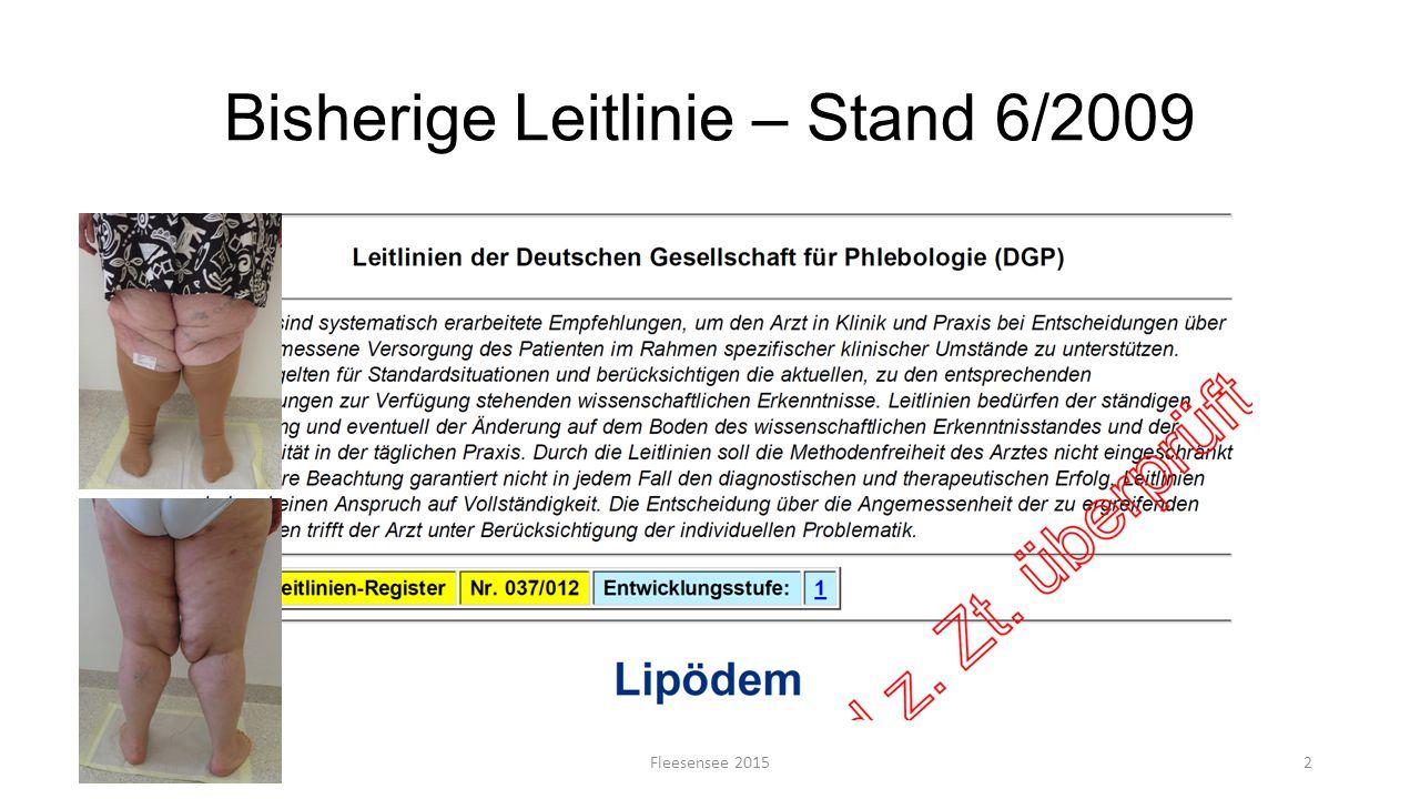 Bisherige Leitlinie – Stand 6/2009 Fleesensee 20152