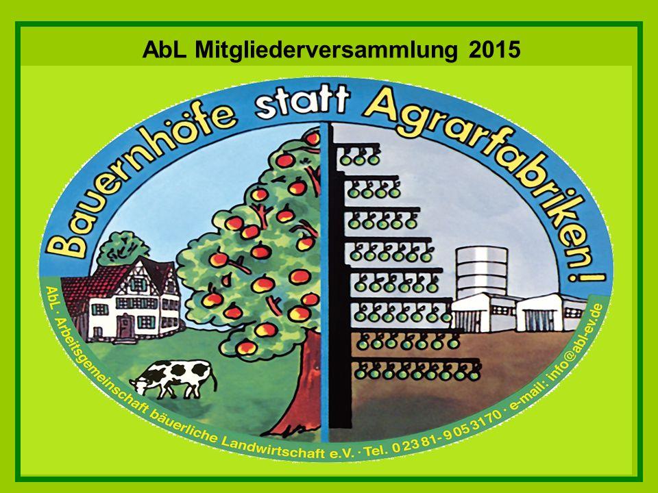 AbL Mitgliederversammlung 2015