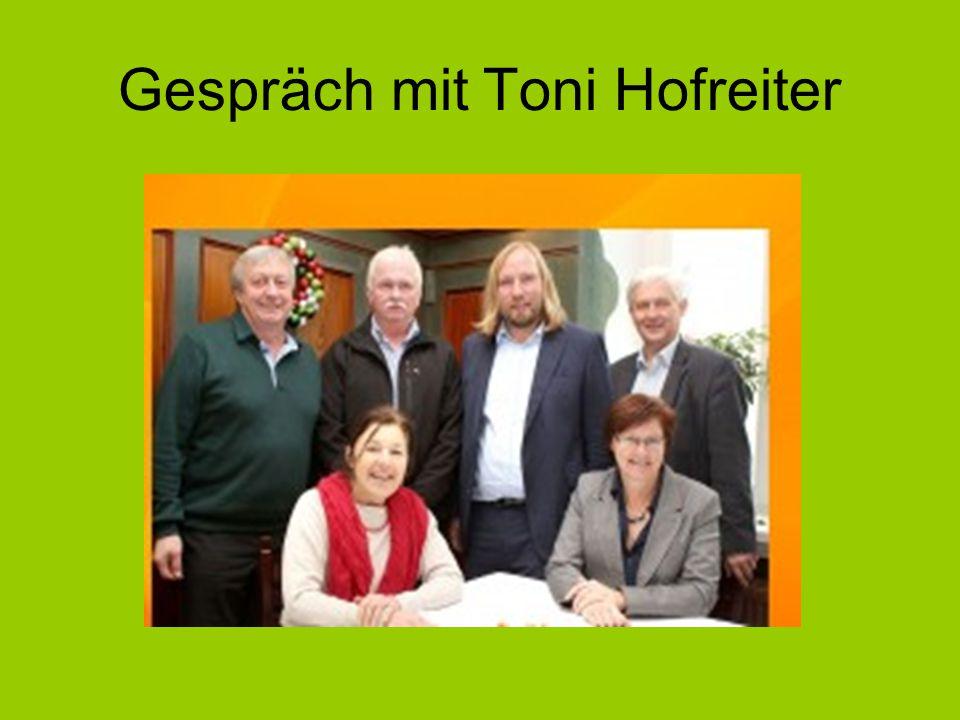 Gespräch mit Toni Hofreiter