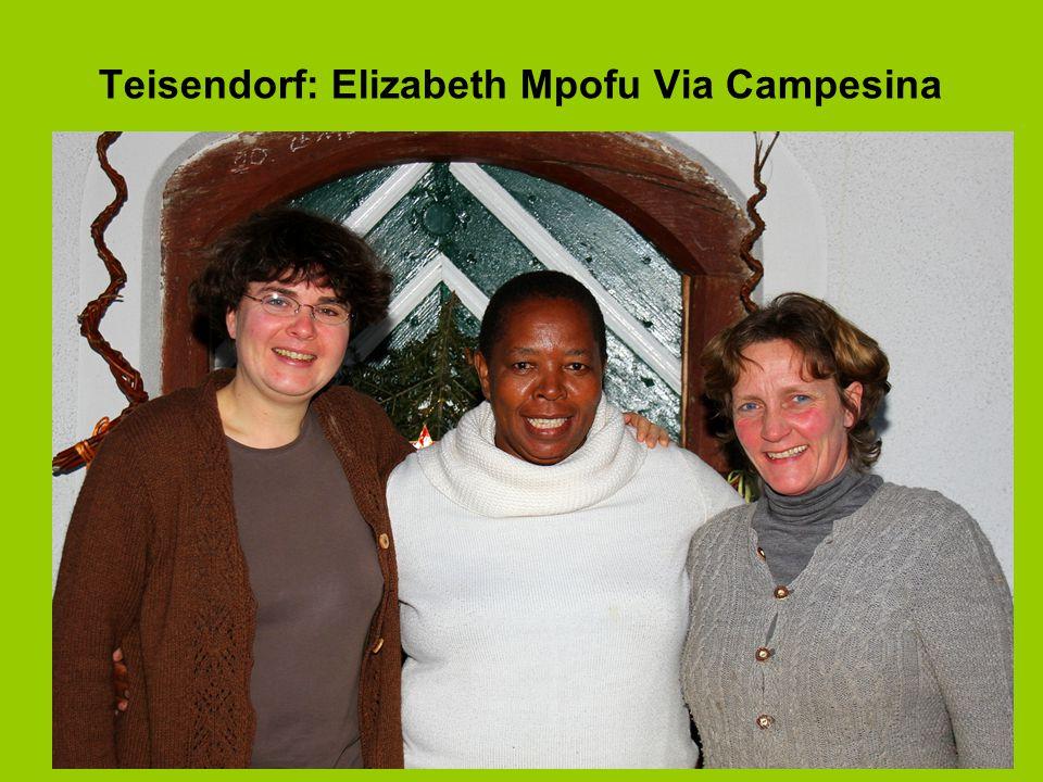 Teisendorf: Elizabeth Mpofu Via Campesina