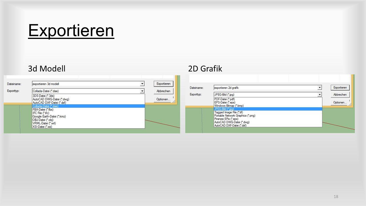 Exportieren 3d Modell2D Grafik 18