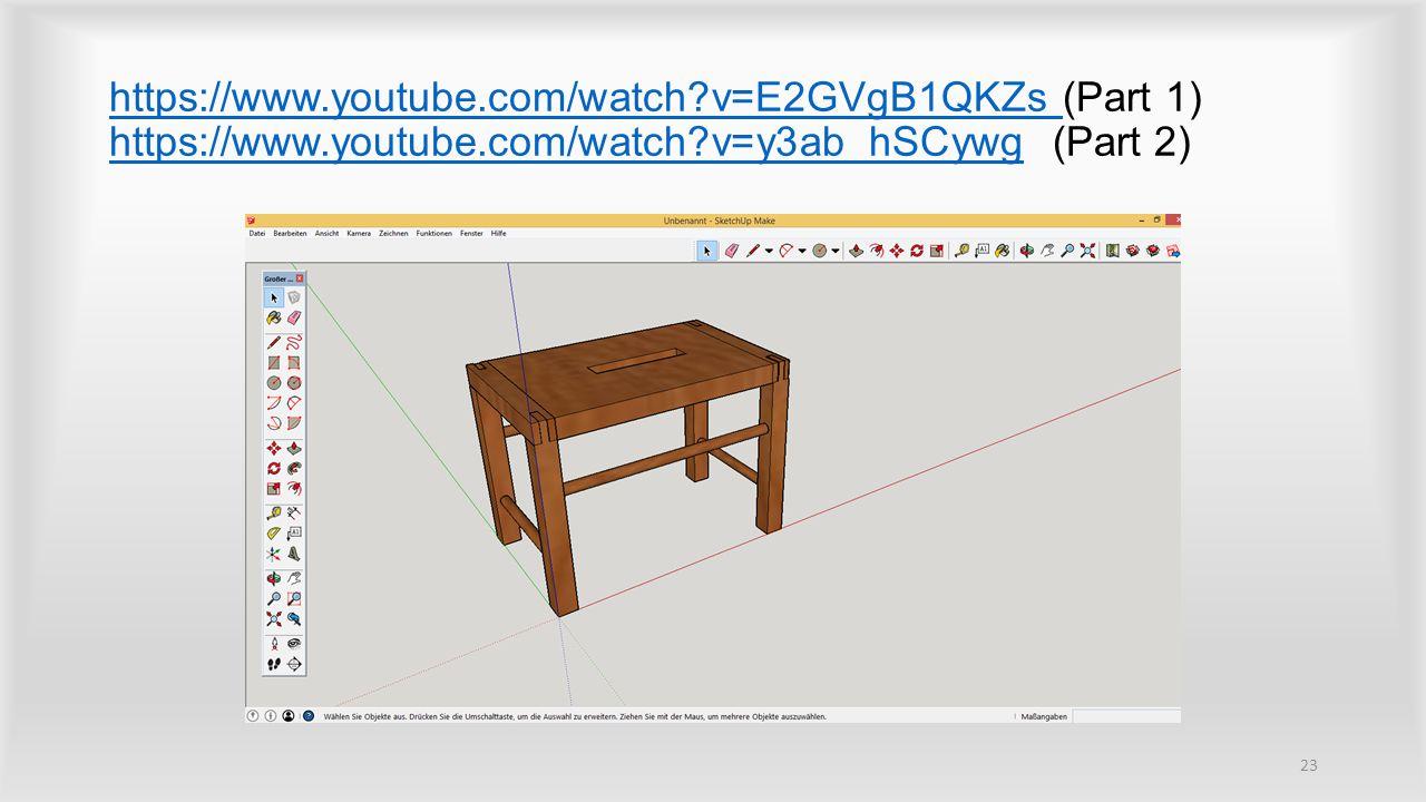 https://www.youtube.com/watch?v=E2GVgB1QKZs https://www.youtube.com/watch?v=E2GVgB1QKZs (Part 1) https://www.youtube.com/watch?v=y3ab_hSCywg (Part 2) https://www.youtube.com/watch?v=y3ab_hSCywg 23