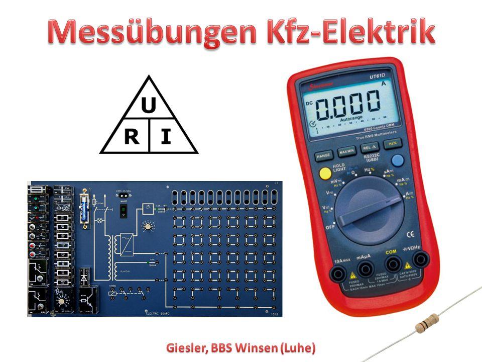 1 Messübungen Kfz-Elektrik