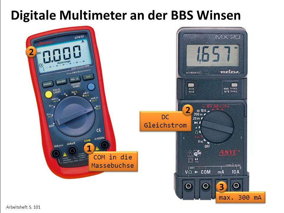 2 Digitale Multimeter an der BBS Winsen DC Gleichstrom COM in die Massebuchse max.