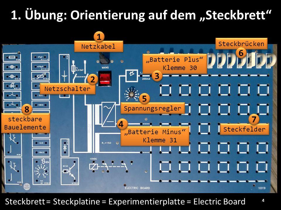 4 Steckbrett = Steckplatine = Experimentierplatte = Electric Board 1.