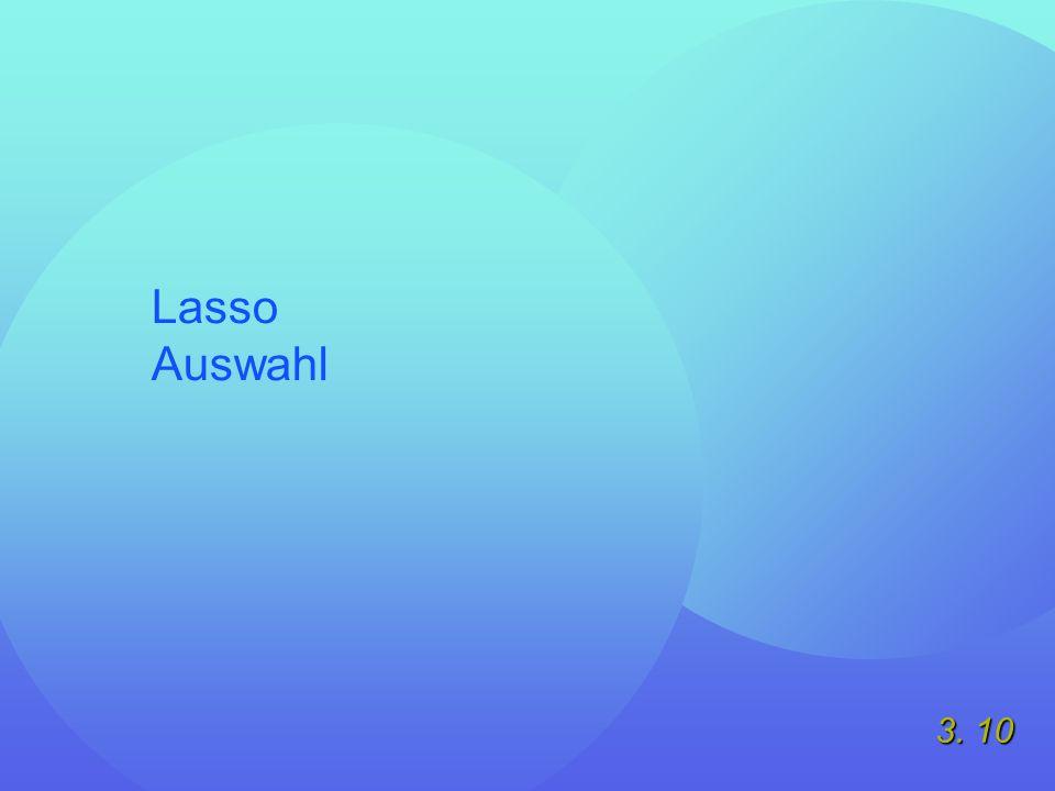 3. 10 Lasso Auswahl