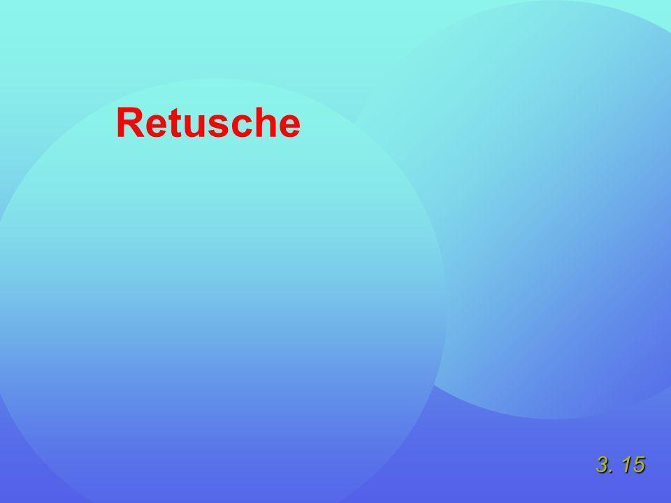 3. 15 Retusche