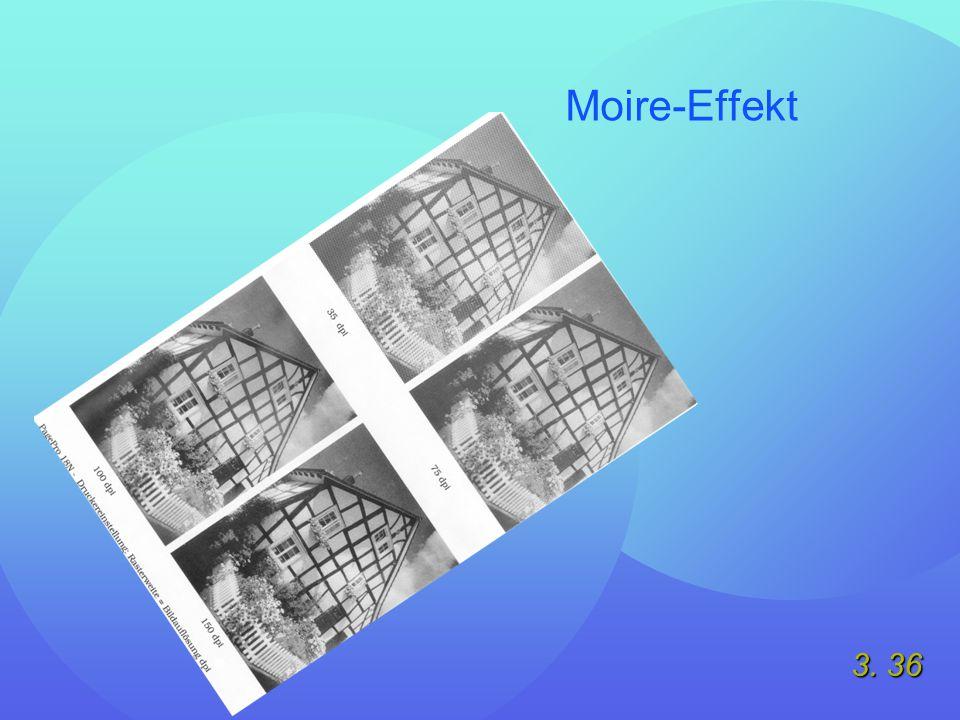 3. 36 Moire-Effekt