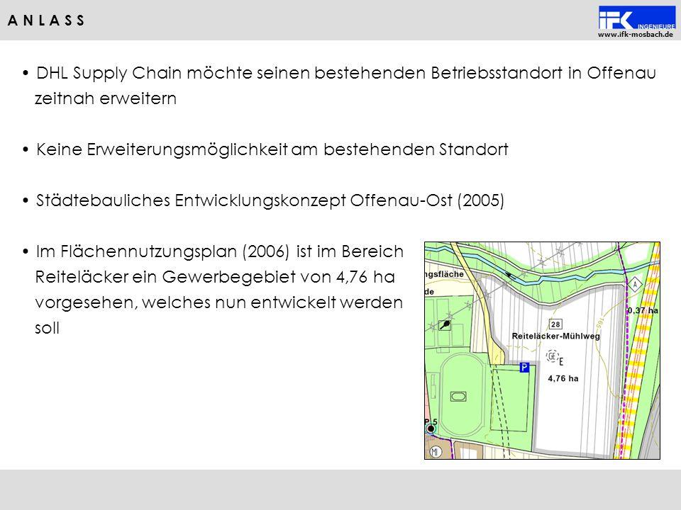 www.ifk-mosbach.de DHL Supply Chain möchte seinen bestehenden Betriebsstandort in Offenau zeitnah erweitern Keine Erweiterungsmöglichkeit am bestehend
