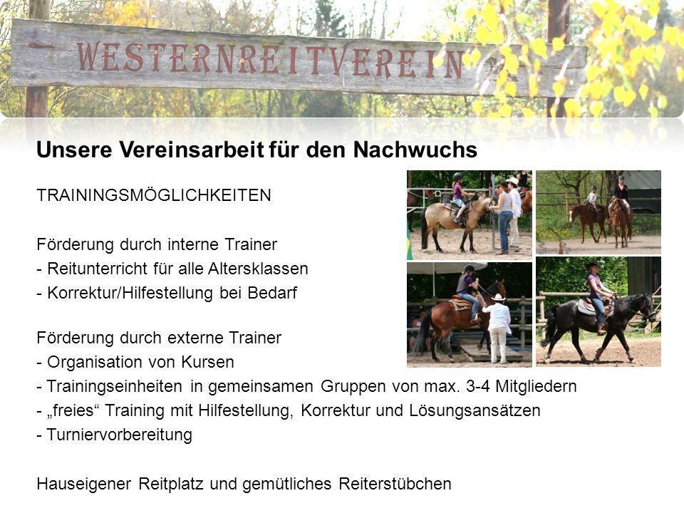Unsere Vereinsarbeit für den Nachwuchs FERIENPROGRAMM Auf den Spuren der Cowboys.