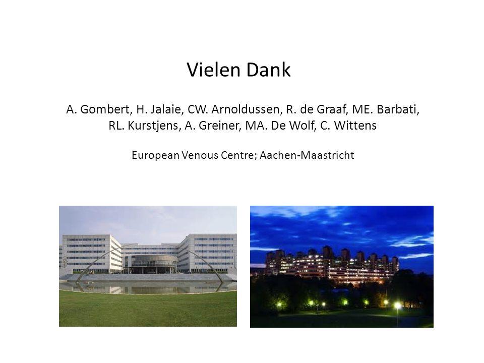 A. Gombert, H. Jalaie, CW. Arnoldussen, R. de Graaf, ME. Barbati, RL. Kurstjens, A. Greiner, MA. De Wolf, C. Wittens European Venous Centre; Aachen-Ma