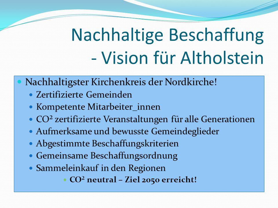 Nachhaltige Beschaffung - Vision für Altholstein Nachhaltigster Kirchenkreis der Nordkirche.