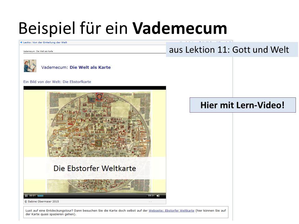 Beispiel für ein Vademecum Hier mit Lern-Video! aus Lektion 11: Gott und Welt