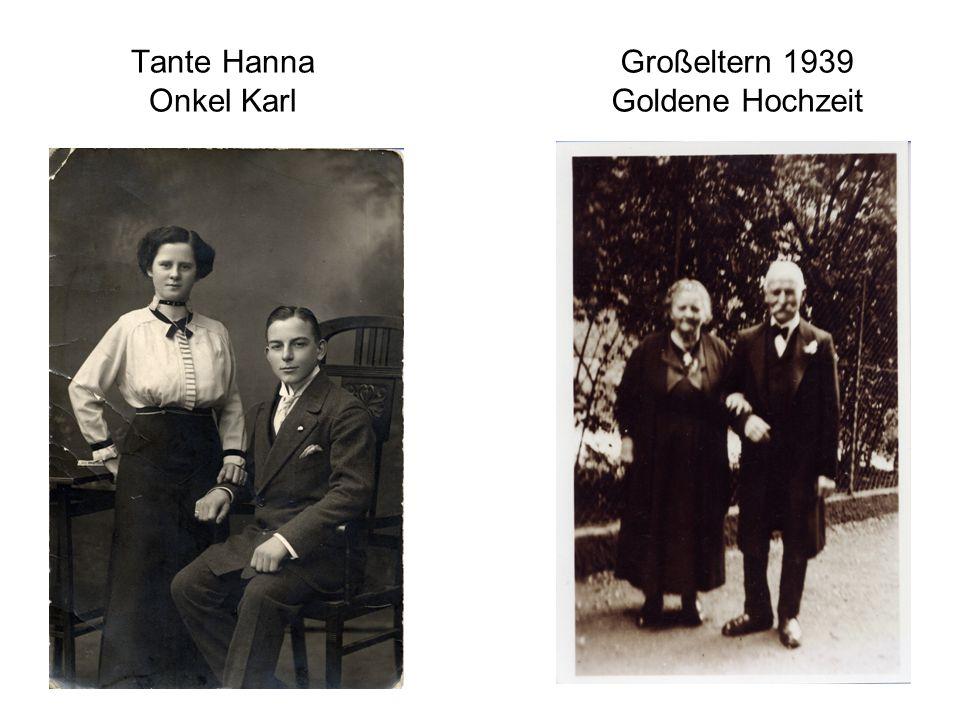 Tante Hanna Onkel Karl Großeltern 1939 Goldene Hochzeit